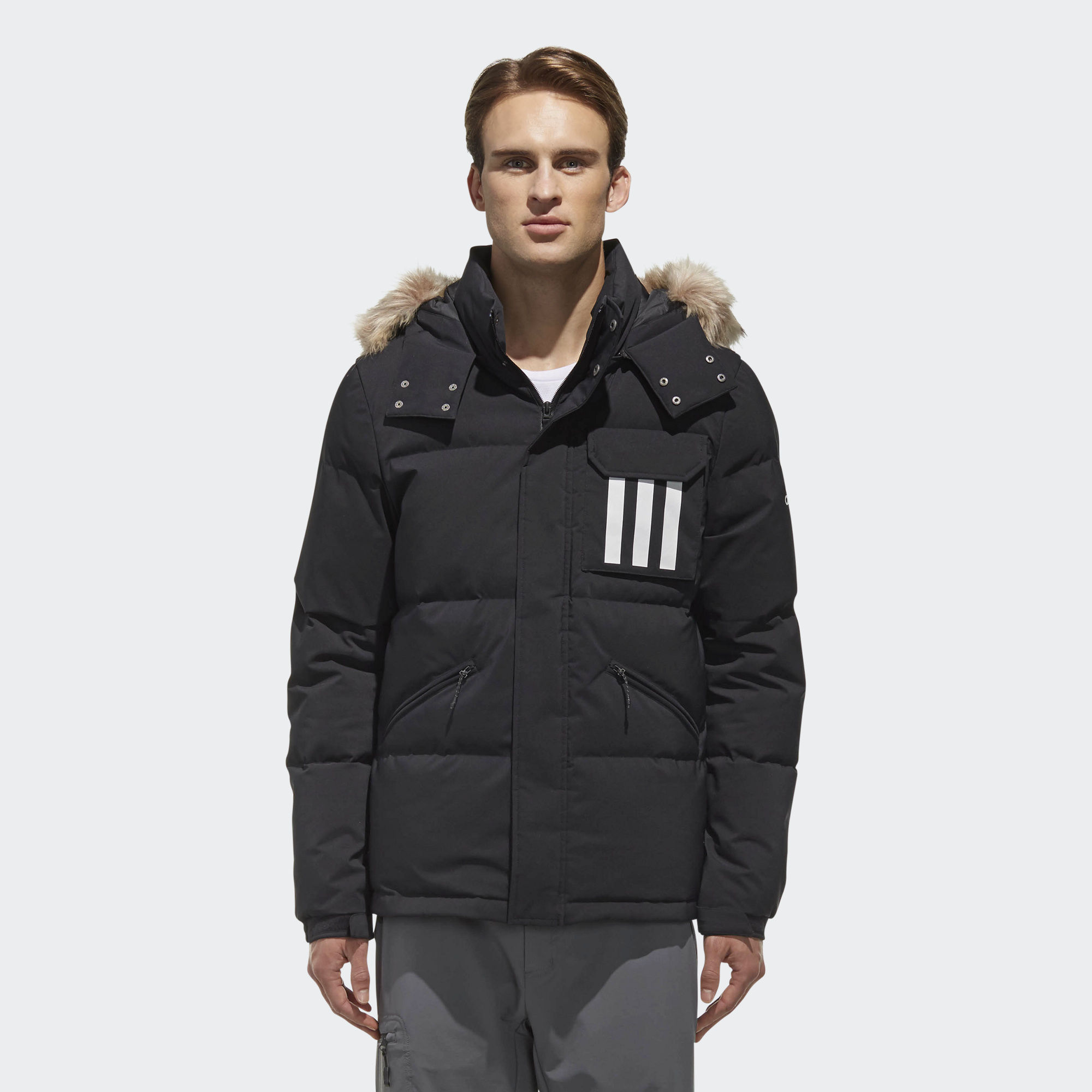 Пуховик 3-Stripes Puffa DT7917 adidas Performance - Украина   ONETEAM.COM.UA f68f067572a