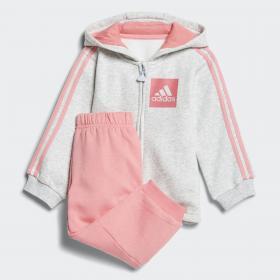 Флисовый спортивный костюм 3-Stripes Hooded K CF7390